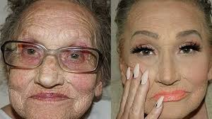 50 year old makeover 80 year old grandma wins instagram with contour makeover grazia
