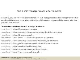 Shift Manager Resume Top5shiftmanagercoverlettersamples 150620033643 Lva1 App6892 Thumbnail 4 Jpg Cb U003d1434771461