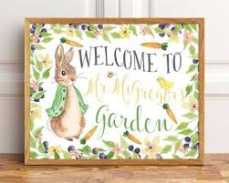 mr mcgregor s garden rabbit welcome to mr mcgregor s garden rabbit sign party