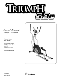 triumph 5 3e elliptical tri 5 3e manuals users guides