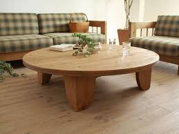 solid pine wood table round 80cm natural painting asian living
