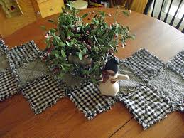 16 best rag quilt table runners and placemats images on pinterest