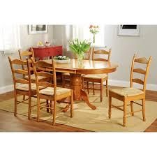 simple living oak finish 7 piece ladderback dining set free simple living oak finish 7 piece ladderback dining set