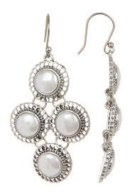 pearl chandelier lucky brand small pearl chandelier earrings nordstrom rack
