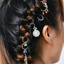 hair rings buy images Gemini_mall 8pcs lady girls cute shiny silver star hair rings jpg