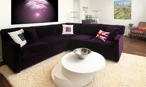 Purple Table L Living Room Simple Living Room L Shaped Purple Sofa And Modern
