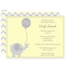 elephant balloon yellow baby shower invitation yellow balloons