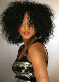 medium length afro caribbean curly hair styles 100 human hair trendy super afo cut bob hairstyle medium curly