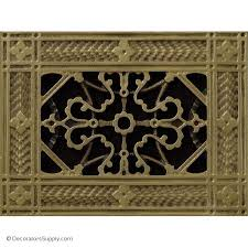 Arts & Crafts Decorative HVAC Vent Covers include designer finishes