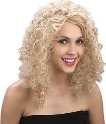 curly blonde wig 80 u0027s 80s sandy grease dancer saloon fancy
