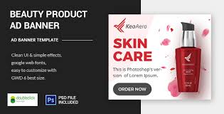 beauty care product html5 animated banner template by 0effortthemes