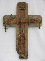 wood crosses for crafts recycled wood cross bronze cross handcrafted western cross ooak