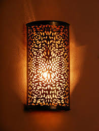 Moroccan Wall Sconce Moroccan Brass Wall Light Sconce And Its Openwork Pattern