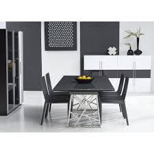 Extended Dining Table by Dining Room Bellini Modern Living Borg Expandable Dining Table