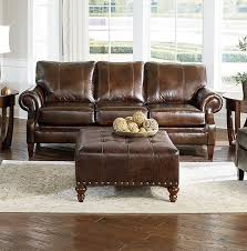 Brown Leather Chair And A Half Design Ideas England Furniture