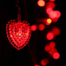 Red Heart Fairy Lights by 2x 1 5m 6w Window Curtain Heart Shaped Led Fairy String Light