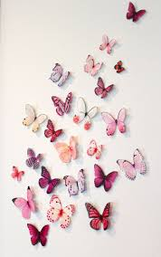 wall decoration butterflies at home and interior design ideas
