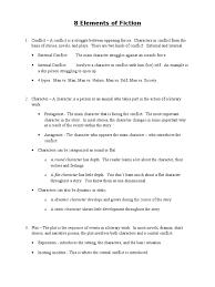 8 elements of fiction answer key plot narrative narration