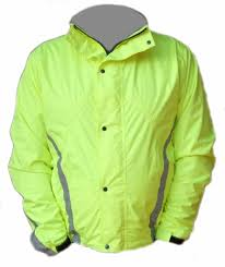 yellow waterproof cycling jacket waterproof windproof high visibilty mens breathable biking jacket
