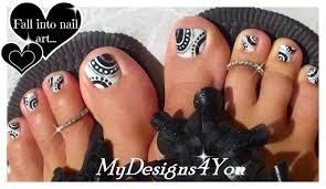 how to toenail art black and white toenail tutorial черно