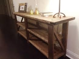 Tables For Hallway Teak Wood Hallway Table With Rectangular Mirror Home Design