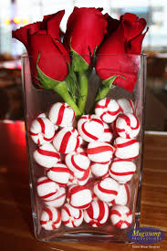 Christmas Home Decorating Service Rose And Candy Cane Centerpiece Perfect For Christmas Prettier