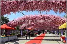 yiwu aimee supplies wholesale artificial cherry blossom branch