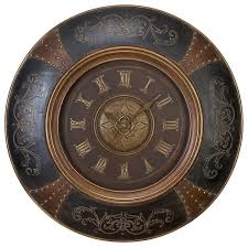 Wall Clocks Wood Leather Wall Clock With Royal Look Traditional Wall