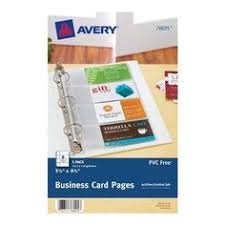 Avery Laser Business Cards Avery 5 1 2 X 8 1 2 Inches Mini Durable Style Binder With 1 Inch