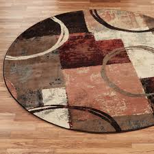 Round Area Rugs Contemporary by Arcade Contemporary Abstract Round Rug