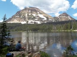 Utah travelling images Mirror lake in the uinta mountains of northeastern utah bald jpg