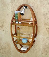 Small Teak Shower Stool Using Teak Shower Caddy To Store Your Daily Use Shower Products