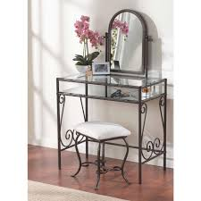 Linon Home Decor Products by Linon Home Decor Clarisse 2 Piece Dark Metal Vanity Set 58950mtl