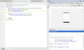 android missing layout width android studio layer list render stack overflow