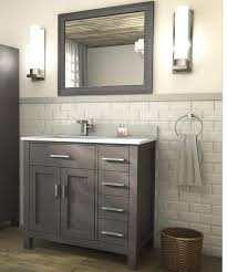 traditional bathroom vanity kalize 36 gray finish stained