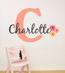 peach flower girls name wall decal by decor designs decals flowers w peach flower girls name wall decal by decor designs decals flowers wall decal