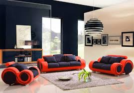 red and black living room ideas green fabric cushion flat tv