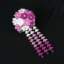 146 best japanesesilkflowers kanzashi images on