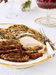 turkey breast with spinach herb