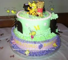 coolest baby winnie the pooh shower cake