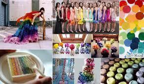 dramatically rainbow theme wedding reception looks u2013 weddceremony com