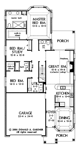 builder house plans for narrow lots hwbdo69199 ranch house plan from