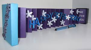 how to make handmade pop up birthday cards happy 37th birthday wishes pop up accordion book card in a