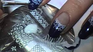 nail art designs nail art designs tv navy blue lace dots konad stamp
