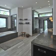 floating glass shelves trend houston contemporary bathroom
