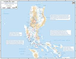 World War 3 Map by Map Of Wwii Luzon The Philippines 1945