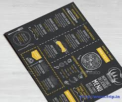 100 great restaurant food menu print templates 2016 frip in