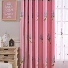 Curtain Cartoon by Online Shop Senisaihon Pastoral Polyester Lavender Embroidery