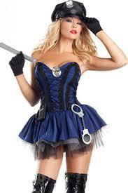 Policeman Halloween Costume Blue Halloween Costume Women Pink Queen