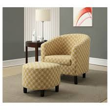accent chair with ottoman accent chair and ottoman yellow circles everyroom target